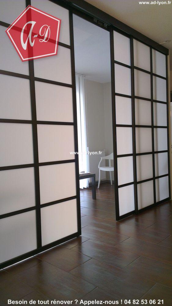 Panneau japonais separateur de piece id e for Carrelage japonais