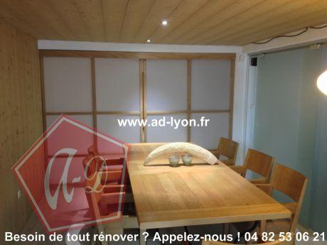un bureau zen et raffin gr ce la porte coulissante japonaise. Black Bedroom Furniture Sets. Home Design Ideas