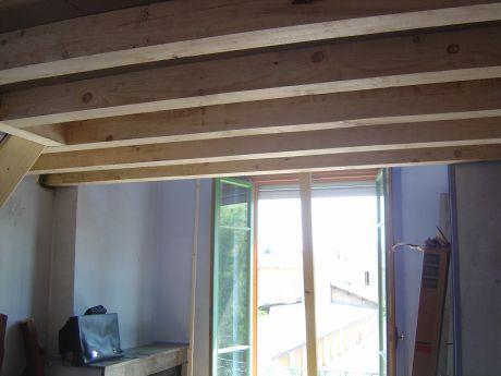 Construction d 39 une mezzanine dans une chambre pour un bureau - Fabrication mezzanine bois ...