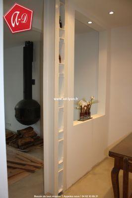 Ipn en acier pose sous poutrelle porteuse peint l for Mur separateur decoratif
