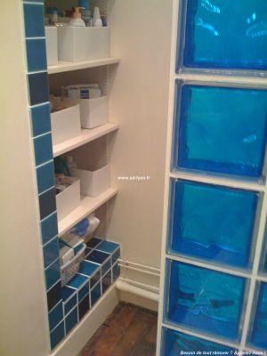 R alisation d 39 un mur en pav de verre - Salle de bain pave de verre ...