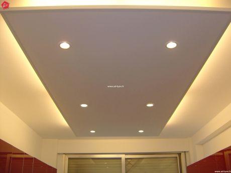 Plafond avec clairage cuisine et salle de bain - Faux plafond suspendu lumineux ...