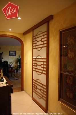 s parer cloisonner d corer avec la porte coulissante. Black Bedroom Furniture Sets. Home Design Ideas