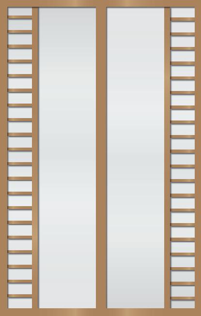 Cloison coulissante japonaise Juuichigatsu 2 vantaux