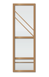 Porte coulissante marron