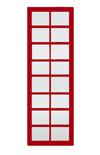 Porte coulissante rouge