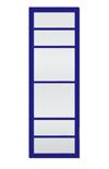 Porte coulissante bleu