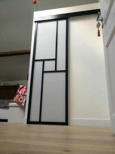 Comment poser une porte coulissante en applique - Fabriquer porte coulissante japonaise ...