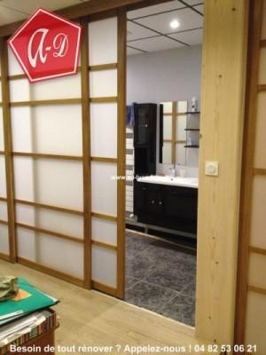 Porte coulissante salle de bain lapeyre meilleure for Meuble de salle de bain porte coulissante