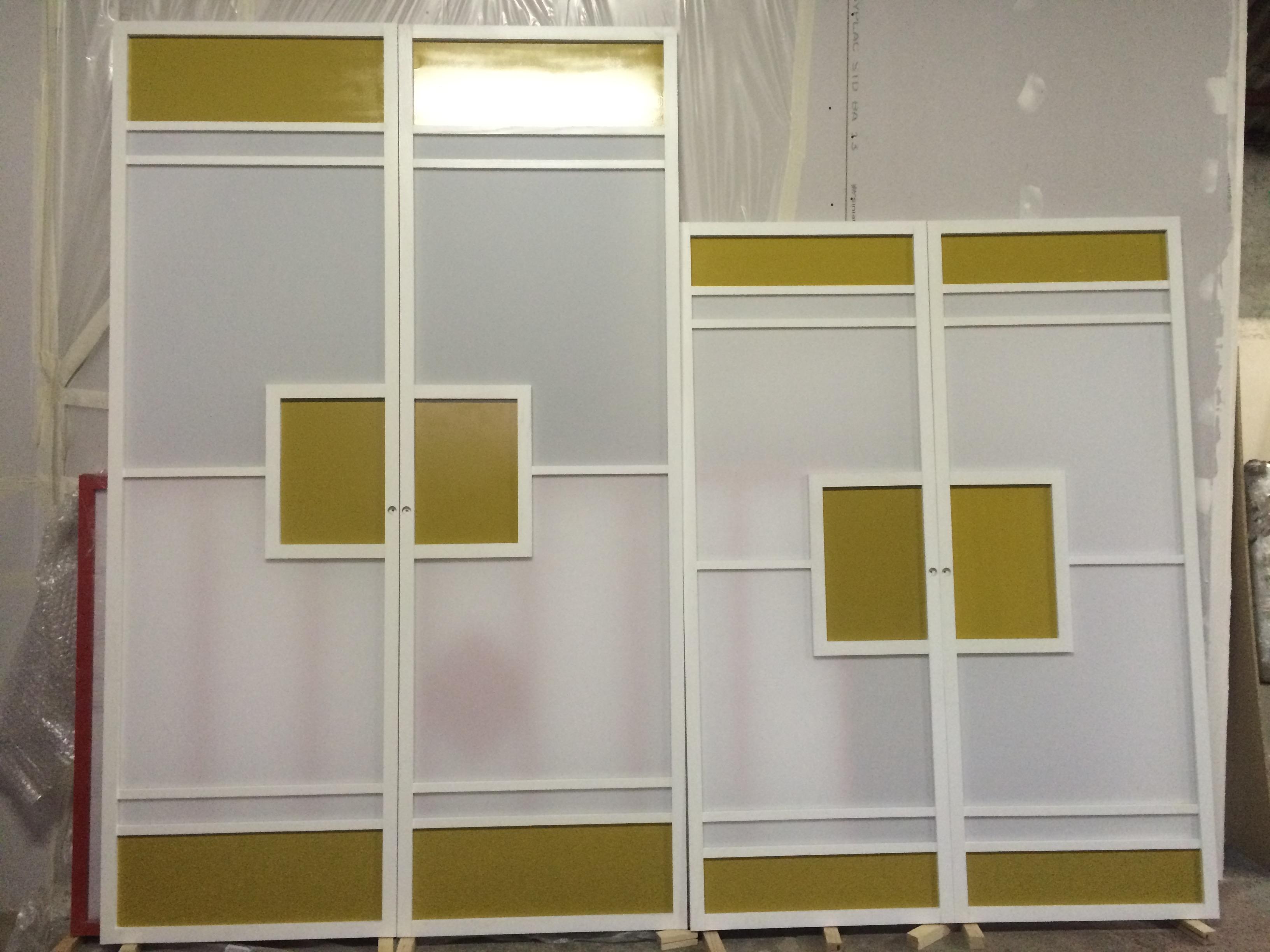 Cloison coulissante juunigatsu avec deux demi rectangles Cloisons coulissantes