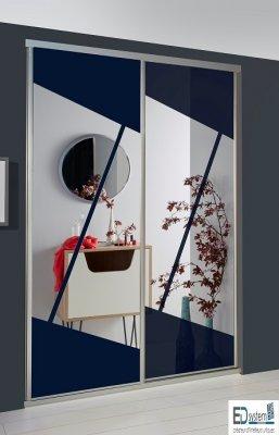 porte de placard coulissante origami. Black Bedroom Furniture Sets. Home Design Ideas