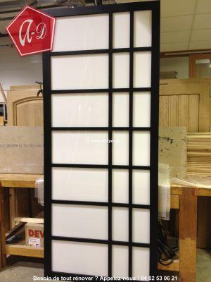 Apprendre poser une porte japonaise tape par tape en - Separation japonaise ...