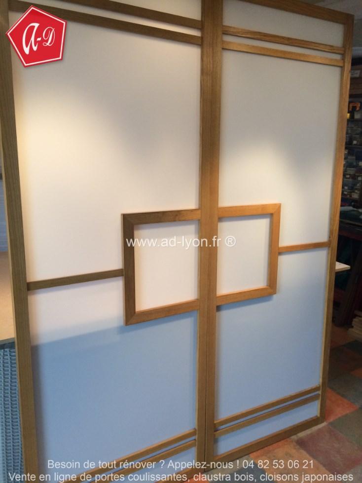 Cloison coulissante japonaise douche japonaise paroi - Fabriquer porte coulissante japonaise ...
