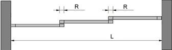 recouvrement des 3 portes avec 3 rails