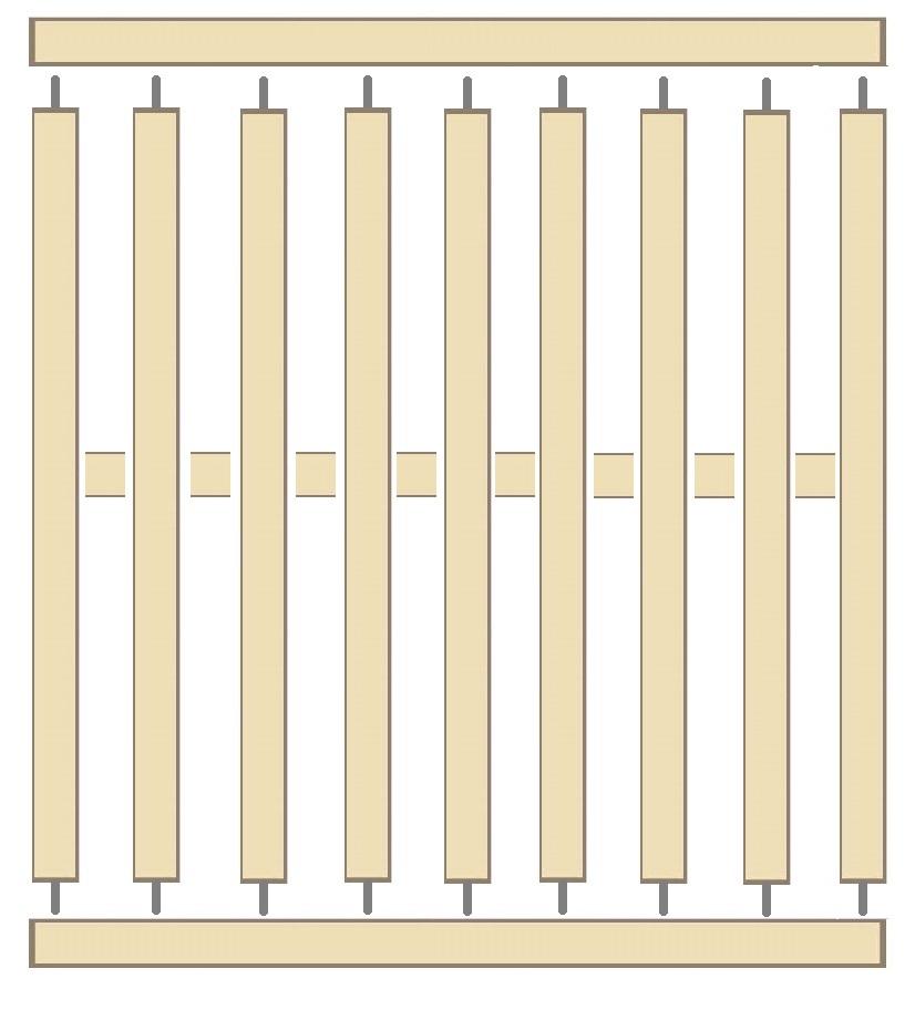 claustra bois ichi ajour de 11 14 lames en bois modulables. Black Bedroom Furniture Sets. Home Design Ideas